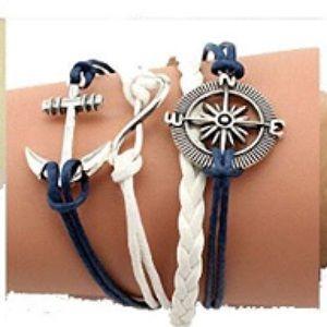 Jewelry - ⚓️Nautical Woven Leather Braided Infinity Bracelet